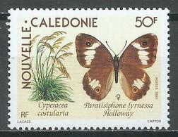 Nouvelle Calédonie YT N°590 Plante Et Papillon Neuf ** - Unused Stamps