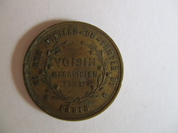 France: Token Voisin Mécanicien 1855 - Professionali / Di Società