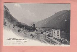 OUDE POSTKAART ZWITSERLAND  -  SCHWEIZ -   TREIN - STATION - - BAHNHOF - SURAVA - ALBULA-BAHN - 1900'S - GR Grisons
