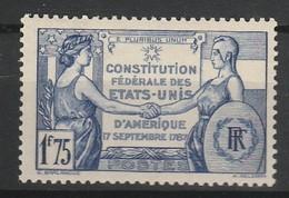 FRANCE 1937 YT N° 357 * - Neufs