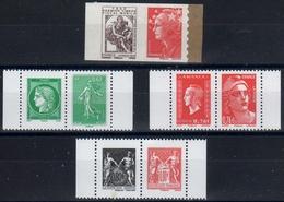 2010-18 / LOT DE 4 Paires-N°507-175+4908-9+4991-2+5096-7 Issues De Carnet Gommé Et Adhésif /NEUF - France