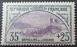 R1615/181 - 1917 - AU PROFIT DES ORPHELINS DE LA GUERRE - N°152 NEUF** - BON CENTRAGE - Cote : 500,00 € - Nuovi