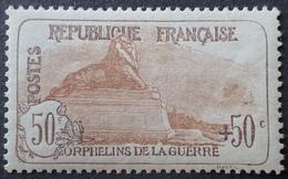 R1615/182 - 1917 - AU PROFIT DES ORPHELINS DE LA GUERRE - N°153 NEUF** - Cote : 1000,00 € - Nuovi