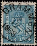 Norway, Norge 1867 4 Sk. Blue Central Cancel Drammen 1 Value Cancelled - Gebraucht
