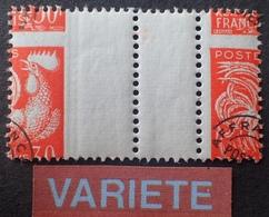 R1615/195 - 1957 - PREO - COQ - N°116a NEUF** - SUPERBE +++ VARIETE ➤➤➤ Piquage à Cheval - Variétés: 1950-59 Neufs