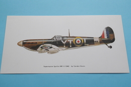 SUPERMARINE SPITFIRE MK II 1940  - By Gordon Davies ( Edit. : Noel Tatt Ltd, Lyminge Kent ) ( See Photo ) 20 X 10 Cm.! - 1939-1945: 2ème Guerre