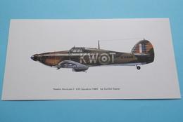 HAWKER HURRICANE 615 Squadron 1940 - By Gordon Davies ( Edit. : Noel Tatt Ltd, Lyminge Kent ) ( See Photo ) 20 X 10 Cm.! - 1939-1945: 2ème Guerre