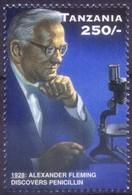 Tanzania 1996 MNH, Fleming Nobel Medicine, Microscope  ( - Nobel Prize Laureates