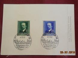 Carte Commémorative  De 1940 De Emil Von Behring - Briefe U. Dokumente