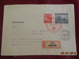 Lettre En Recommandé De 1942 De Prague à Destination De Villach - Bohême & Moravie