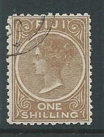 Fiji 1881 1 Shilling Queen Victoria FU - Fiji (...-1970)