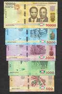 Full Set Burundi 500 1000 2000 5000 10000 Francs 2015 UNC - Burundi
