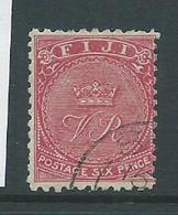 Fiji 1878 6d Bright Rose Crown & VR FU - Fiji (...-1970)