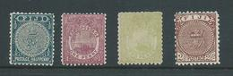 Fiji 1891 - 1902 1/2d , 1d , 2d & 2&1/2d Fine Mint - Fiji (...-1970)