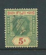 Fiji 1912 KGV 5 Shillings FU Pen Cancel - Fiji (...-1970)