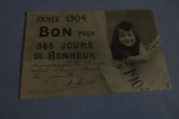 BELLE PETITE FILLE ....VOEUX POUR 1904 - Bergeret