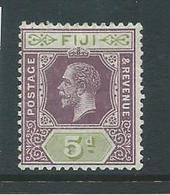 Fiji 1912 - 1923 KGV 5d Fint Mint - Fiji (...-1970)