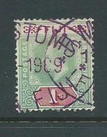 Fiji 1903 KEVII 1 Shilling FU , Interesting Cancellation - Fiji (...-1970)