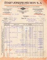 16-0665    1946     ETS JOSEPH PECHON S. A. A ISLE ADAM - M. PAPIN A TOURS - 1900 – 1949