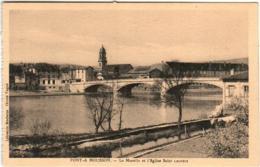 41thz 1907 CPA - PONT A MOUSSON - LA MOSELLE ET L'EGLISE SAINT LAURENT - Pont A Mousson
