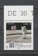 FRANCE / 2019 / Y&T N° 5340 ** : 1er Pas De L'homme Sur La Lune X 1 BdF Haut - France