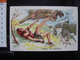 CP Carte Postale Postcard Plastifiee MILITARIA HUMOUR MILITAIRE ARMEE SOLDAT Photochrom MANOEUVRE - Cartes Postales