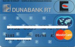 HUNGARY - CREDIT BANK CARD - MASTERCARD - DUNABANK RT - Krediet Kaarten (vervaldatum Min. 10 Jaar)