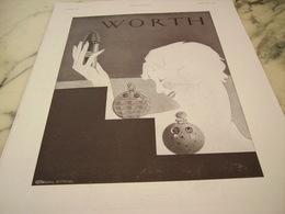 ANCIENNE PUBLICITE PARFUM WORTH 1930 - Afiches