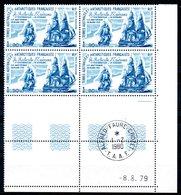 TAAF - YT PA N° 58 X4 Coin Daté - Neufs ** - MNH - Cachet Du Crozet Hors Timbres - Airmail
