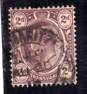 TRANSVAAL BRITISH OCCUPATION 1902 1903 KING EDWARD VII RE EDOARDO TWO PENCE 2p  USED USATO OBLITERE' - Sud Africa (...-1961)