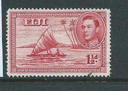 Fiji 1938 - 1955 KGVI Definitives 1&1/2d Canoe With Man Die 2 Perforation 14 VFU - Fiji (...-1970)