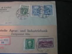 CSR Bilina Und Pardubitz 2  R-Brief - Briefe U. Dokumente