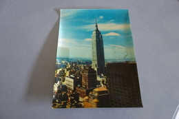 BELLE CARTE 3D VISIO RELIEF ...CACHET AIR FRANCE 747 ... - Empire State Building