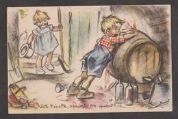 CPA GERMAINE BOURET-Vite Nénette,apporte Ton Quart!...Ecrite 1947- - Unclassified