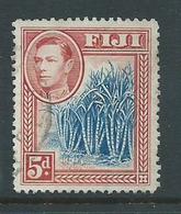Fiji 1938 - 1955 KGVI Definitives 5d Blue Canes FU - Fiji (...-1970)