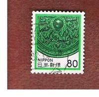 GIAPPONE  (JAPAN) - SG 1595  -   1981   BRONZE MIRROR   - USED° - 1926-89 Emperor Hirohito (Showa Era)