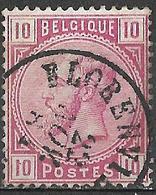 9W-566:N°38:DCa:FLORENVILLE: Dubbel Cirkel - Romeins Lettertype - 1883 Leopoldo II