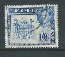 Fiji 1938 - 1955 KGVI Definitives 1/6 Coat Of Arms Perforation 13 FU - Fiji (...-1970)
