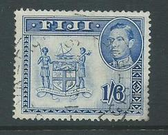 Fiji 1938 - 1955 KGVI Definitives 1/6 Coat Of Arms Perforation 13 Used , Attractive But Thinned - Fiji (...-1970)
