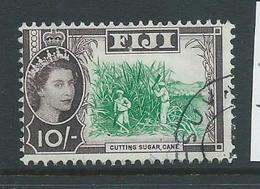 Fiji 1962 QEII 10 Shilling Sugar Cane Definitive FU - Fiji (...-1970)