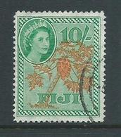 Fiji 1954 QEII 10 Shilling Papaya Tree Definitive FU - Fiji (...-1970)
