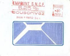 EMA EMPRUNT S.N.C.F. 6,25 % SOUSCRIVEZ 28.12.66 = PARIS - 84 = - EMA (Empreintes Machines à Affranchir)