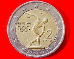 GRECIA - 2004 - Moneta - Giochi Olimpici Atene 2004 - Discobolo Di Mirone - Euro - 2.00 - Grecia