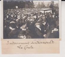Paris Enterrement De Aernoult La Foule 1912 +-13*9CM Maurice-Louis BRANGER PARÍS  (1874-1950) - Lugares