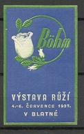 TSCHECHOSLOWAKEI Czechoslovakia 1937 Vignette Reklamemarke BÖHM Exposition MNH - Tschechoslowakei/CSSR