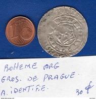 Bohéme  Prague  Gros  De   Arg - Small Coins & Other Subdivisions