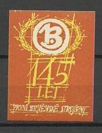 TSCHECHOSLOWAKEI Czechoslovakia Vignette Reklamemarke 145. Anniversary MNH - Tschechoslowakei/CSSR