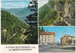 La Strada Della Mendola: FIAT 500, 600, 850, Albergo Pensione 'Dolomiti' - ALFA ROMEO, Die Mendelpasstrasse  - (Italia) - Toerisme
