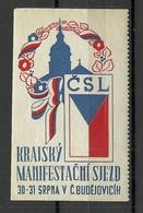 TSCHECHOSLOWAKEI Czechoslovakia Vignette Reklamemarke Flag Flagge MNH - Tschechoslowakei/CSSR