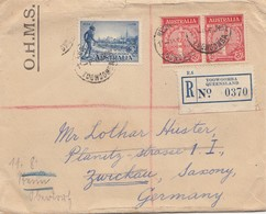 Australien: 1935: O.H.M.S Registered Toowoomba To Zwickau/Germany, Labor Agent - Australien